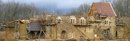 Vista del estado de las obras del castillo