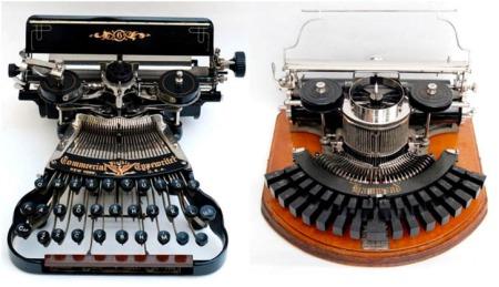 Primeros modelos de maquinas de escribir